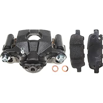 Remanufactured Loaded Non-Coated ACDelco 18R2220F1 Professional Rear Driver Side Disc Brake Caliper Assembly with Pads
