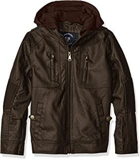 Boys' Ribbed Elbow Faux Leather Jacket