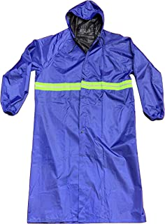 Raincoats for Adults, Reusable Rain Ponchos with Hoods and Sleeves with Reflector Stripe