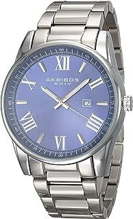 Akribos Xxiv Men's Purple Stainless Steel Band Watch - Ak936Ssbu, Analog Display