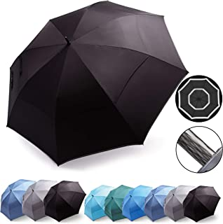 HOSA 54 68 Inch Automatic Open Large Golf Umbrella, Oversize Double Canopy Vented, Heavy Duty, Durable Extra Large Stick U...