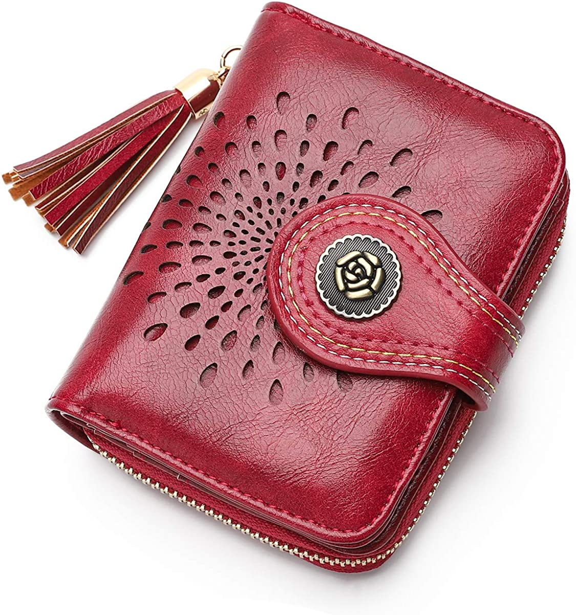 Small Women New mail order Sale price Wallet RFID Blocking Leather PU Bifold Walle Compact