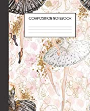 Composition Notebook: Swan Lake Ballet Dancer Ballerina  Wide Ruled Notebook   Lined Journal   100 Pages   7.5 x 9.25