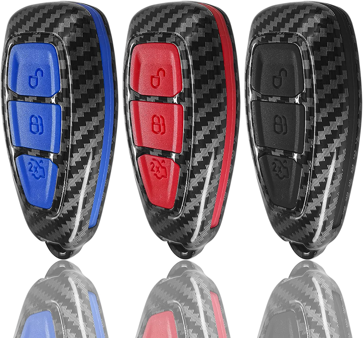 WORCAS 3 Buttons Carbon Fiber Smart Outlet ☆ Free Shipping Cover At the price of surprise Key TPU k Case