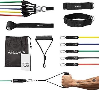 Aflowa Fitness Kit di Elastici Fitness, Bande Elastiche di Resistenza, Fasce di Resistenza 100% Lattice Functional Trainin...