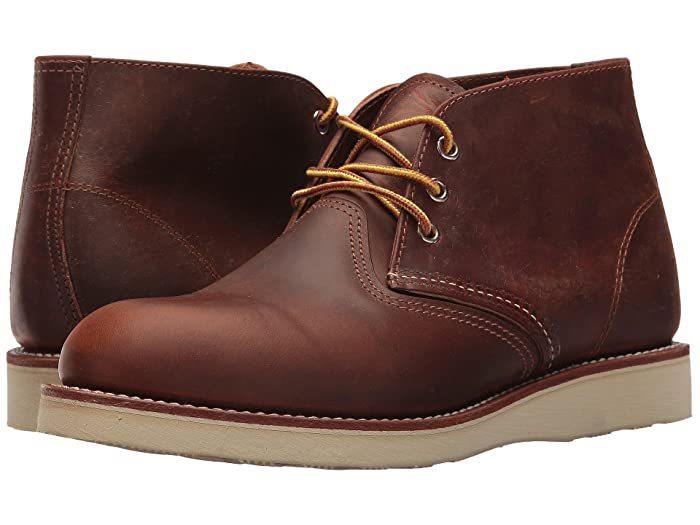 Men's Vintage Workwear Inspired Clothing Red Wing Heritage Work Chukka Copper Rough  Tough Mens Lace-up Boots $259.99 AT vintagedancer.com