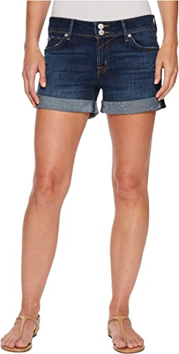 Hudson Croxley Mid Thigh Rolled Shorts in Double Deal