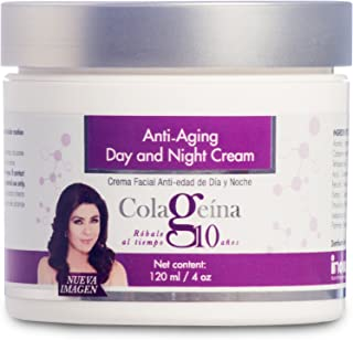COLAGEINA 10 Anti-aging Day and Night Cream Skin Care Treatment for a younger look. Rejuvenate your skin, say goodbye to the appearance of wrinkles and fine lines.