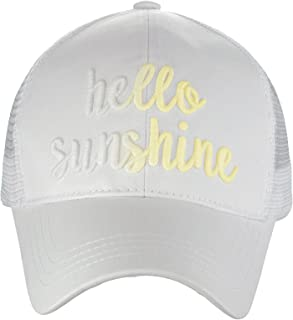 Ponycap Color Changing 3D Embroidered Quote Adjustable Trucker Baseball Cap
