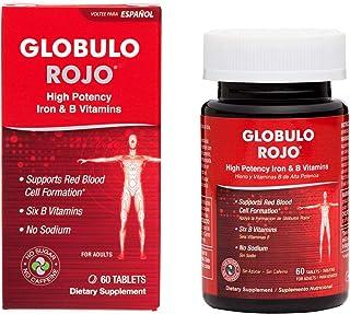 De La Cruz Globulo Rojo Multivitamin with High Potency Vitamin C, Zinc & 6 B Vitamins for Men and Women, 60 Tablets (1 Pack)