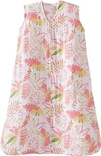 Halo 100% Cotton Muslin Sleepsack Wearable Blanket, Pink Leaves, Extra-Large