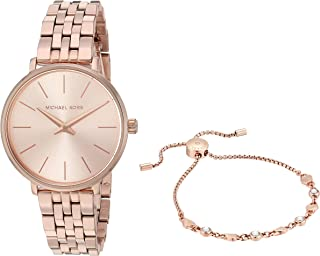 Women's Pyper Quartz Watch with Stainless Steel Strap, Rose Gold, 16 (Model: MK4496)