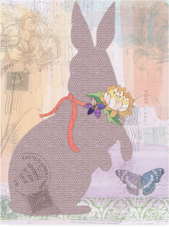 Trademark Fine Art Burlap Bunnies 1