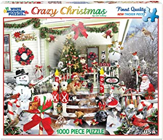 White Mountain Puzzles Crazy Christmas - 1000 Piece Jigsaw Puzzle