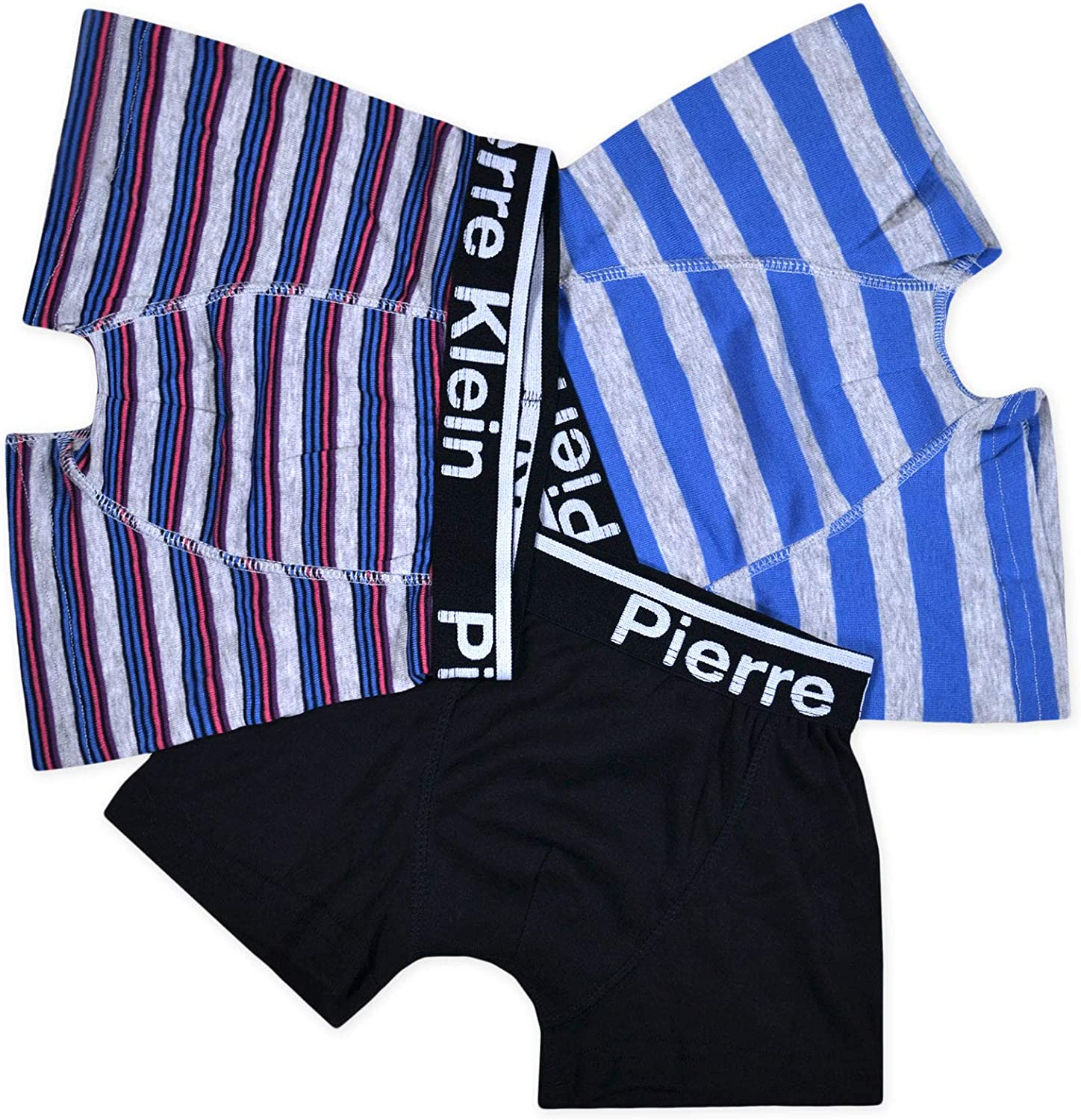 JollyRascals Boys 3 Pack Boxers Shorts Pants Kids Cotton 3 Pairs Underwear Ages 5-13 Years
