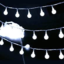 [Remote & Timer] 33Ft Globe String Lights 100LED Fairy Twinkle Lights with Remote 8 Modes Controller & UL Listed Adaptor Plug-for Patio/Party/Garden/Wedding Decor, Pure White