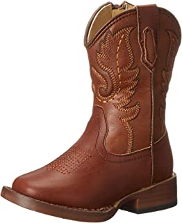 Roper Texson Square Toe Classic Cowboy Boot (Toddler/Little Kid)