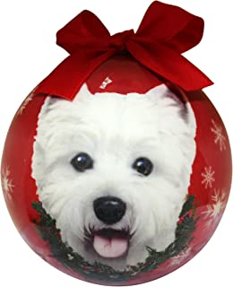 Westie Christmas Ornament Shatter Proof Ball Easy To Personalize A Perfect Gift For Westie Lovers