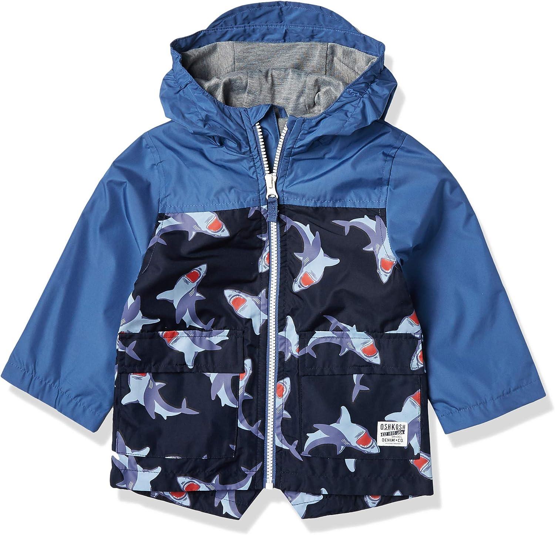 Osh Kosh Boys' Little Color Change Rain Slicker Raincoat Jacket