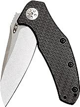"Zero Tolerance 0770CF Folding Knife; 3.25"" High-Performance Crucible S35VN Steel Blade, Stonewashed Finish, Carbon Fiber Handle, SpeedSafe Assisted Opening, Liner Lock, Reversible Pocketclip; 3 OZ"