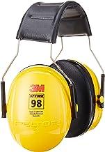 Protetor de ouvido 3M Peltor Optime 98 sobre a cabeça, proteção auditiva, protetores de ouvido, NRR 26 dB, ideal para oper...