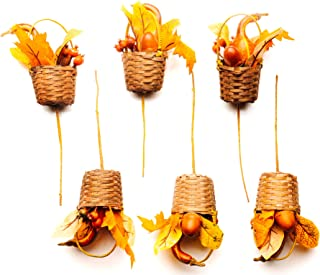 """CraftMore Gourd and Acorn Pick 11"""" Set of 6"""