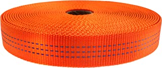 "GM CLIMBING Nylon Tubular Webbing Tape 4000lb Heavy Duty for General Outdoor Application 1"" x 30Ft / 10 Yards"