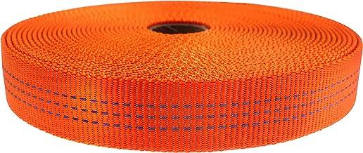 "GM CLIMBING نوار نایلون لوله ایی 4000lb وظیفه سنگین برای کاربرد عمومی در فضای باز 1 ""x 30Ft / 10 yards Orange"