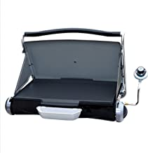 George Foreman GP200GM Portable Propane Camp & Tailgate Grill, Portable Gas Grill, Camping Grill, Gun Metal