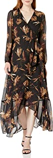 Tommy Hilfiger Women's Chiffon Maxi Wrap Dress