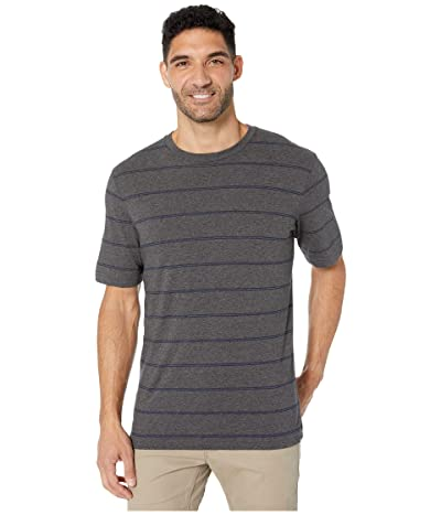 TravisMathew 3RD Person T-Shirt (Heather Grey Pinstripe) Men