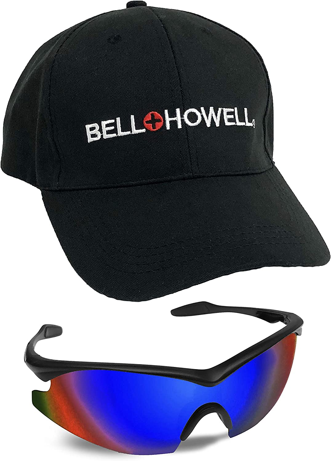 Bell + Howell Sports blueE TAC GLASSES with Cap, Unisex, Polarized As Seen On TV
