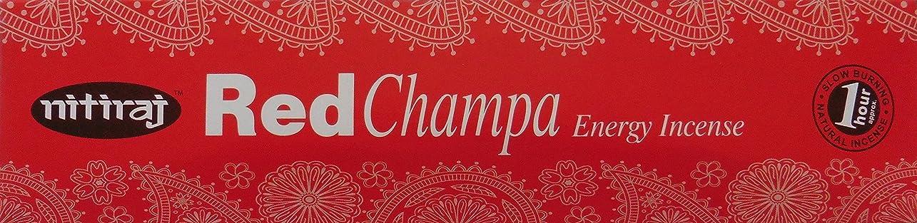 反抗曲線のどNitiraj Red Champa Natural Energy Incense 25gm Single Packet
