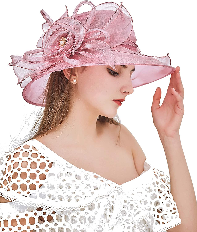 ZX Organza Church Fascinator Kentucky Flow Women Max 43% OFF Derby Ultra-Cheap Deals Hats for
