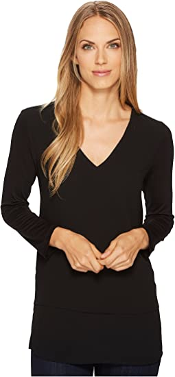 MICHAEL Michael Kors V-Neck Mixed Media