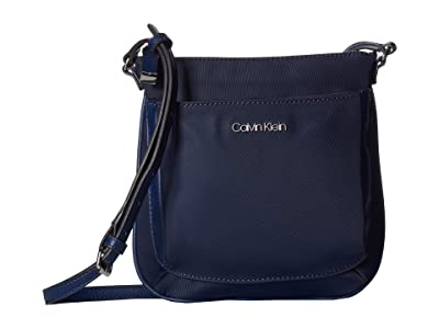 Calvin Klein Abby Nylon Crossbody (Navy) Cross Body Handbags