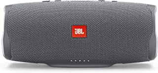JBL Charge 4 Portable Bluetooth Speaker and Power Bank with Rechargeable Battery for More Devices – Waterproof – Grey