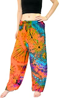 Women's Yoga Pajama Tie Dye Hippie Pants Short Size US 4-12