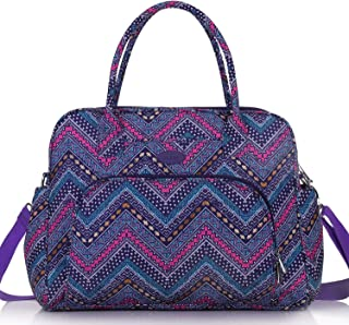 Lily & Drew Carry On Weekender Overnight Travel Shoulder Bag for 15.6 Inch Laptop Computers for Women Medium purple LWO001...