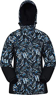 Mountain Warehouse Dawn Womens Ski Jacket - Snowproof, Warm Ladies Jacket, Fleece Lined Ski Coat, Adjustable Cuff, Hem & Hood - Ideal Ski Clothes in Winter