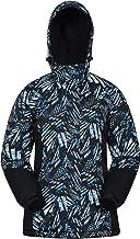 Mountain Warehouse Chaqueta de esquí Dawn para Mujer - A Prueba de Nieve, Abrigo de esquí con Forro Polar, puños, Dobladillo y Capucha Ajustables