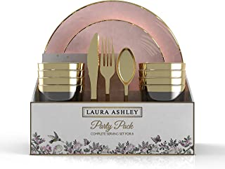 """Laura Ashley 56 Pc Round Coupe Party Set for 8 