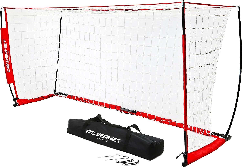 PowerNet Soccer Over item handling ☆ Goal 8x4 Portable Bow Minneapolis Mall Style Metal D Base Net
