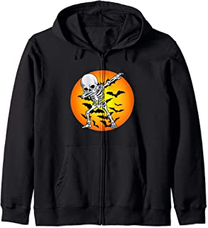 Halloween Dabbing Skeleton Costume Boys Men Girls Women Gift Zip Hoodie