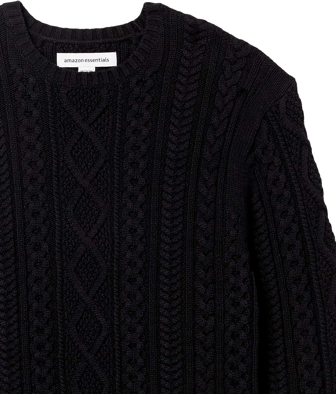 Amazon Essentials Men's Long-Sleeve 100% Cotton Fisherman Cable Crewneck Sweater