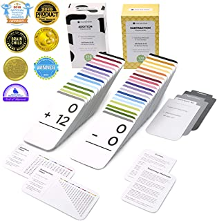 Think Tank Scholar 346 Addition and Subtraction Flash Cards   All Facts Color Coded   Best for Kids in Kindergarten, 1st, ...