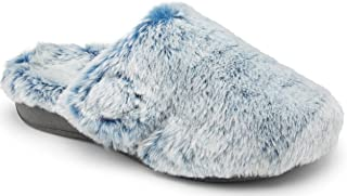 Vionic Women's Indulge Gemma Tip Mule Slipper - Ladies Adjustable Comfortable Cozy House Slippers with Concealed Orthotic Arch Support