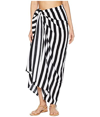 MIKOH SWIMWEAR Kainoa Oversized Beach Sarong Cover-Up (Swell Lines) Women