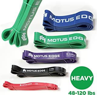Motus Edge HEAVY Resistance Band – CrossFit, Assisted Pull-Up Band, Mobility, Rehab, Stretching - GREEN (48-120 lbs)