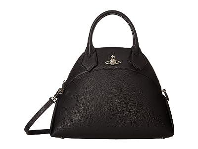 Vivienne Westwood Windsor Medium Handbag (Black) Handbags